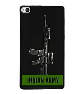 ifasho Designer Back Case Cover for Huawei P8 (Prime Minister Of India Gun Vijay)