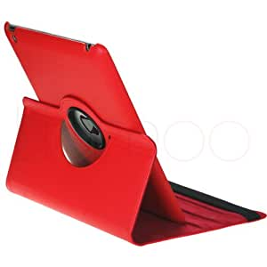 iPad 3 & 2 Schutz Hülle 360° +SchutzFolie + Stift Case Smart Cover Tasche (ROT)