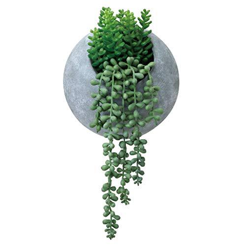 Kleine Bean Pot (Time Concept Kunstpflanze Zitronenbaum in Zementtopf, für Innen- und Außenbereich, Dekoration für Haus und Garten Hanging Bean Swag Arrangement in Cement Pot: L 3.94