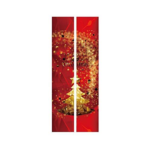 ODJOY-FAN Weihnachten Dekoration Türaufkleber Wandaufkleber Entfernbar Tür Aufkleber Wandgemälde Wand Aufkleber Weihnachten Zuhause Abziehbild (38,5 x 200 cm)(E,1 PC)