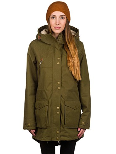 Volcom Damen Jacke Walk on By Parka Lentil Green, L -
