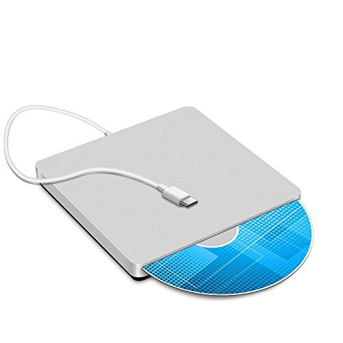 usb-c Super Drive externes Slot-in DVD/CD RW DVD ROM Laufwerk Writer Brenner für die neuesten MacBook/MacBook Pro/Asus u306ua/Asus/Dell Latitude mit usb-c Port silber silber 5.47x 5.47 x 0.67 inches Test