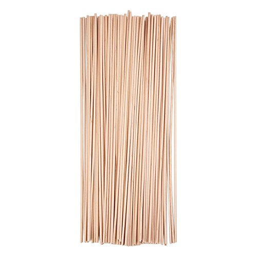 Wooden Craft Dowels Rods 12 - 5/ 32 Inch, 100 Pieces