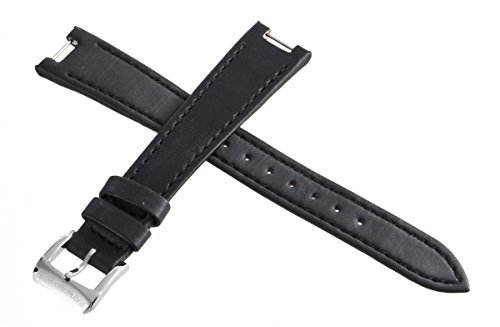 Genuine Raymond Weil Geneve Black Fabric Watch Band cinturino con fibbia...