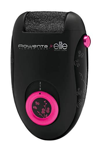 ROWENTA FLOWER LOVE EP2702F0 - LIMA ELÉCTRICA para durezas, Cabezal con rodillo microabrasivo, Potencia ininterrumpida, 2 velocidades, Eliminar la piel muerta de forma eficaz