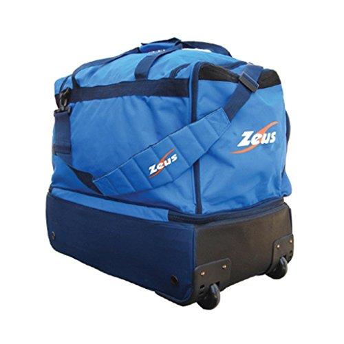 Zeus Herren Sporttasche Trolley Schultertasche Gym Bag Fußball Umhängetasche BORSA STAR 60X34X48 cm SCHWARZ BLAU ROYAL (BLAU) ROYAL-BLAU