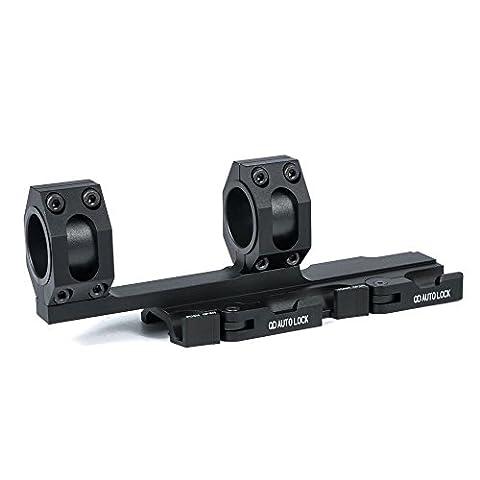 Triplespark 25mm / 30mm Ensemble tactile double anneau 180mm Long QD Scope Attractions Anneau de montage pour Rails Twins Picatinny de 20mm