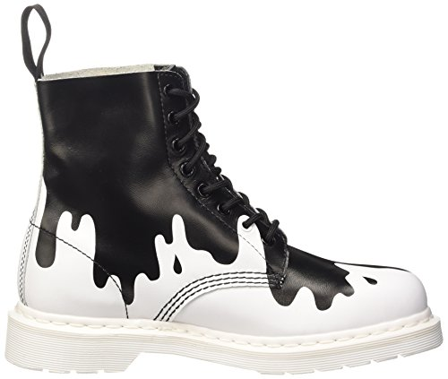 Dr. Martens Pascal, Low-Top Chaussures mixte adulte Multicolore (Blanc Soft T/Noir Pain)