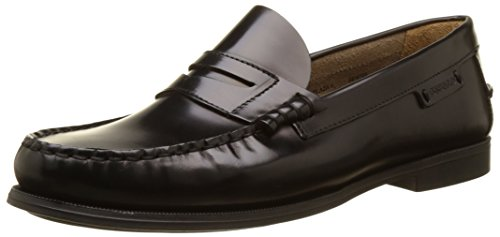 Sebago Plaza Ii, Mocassins Femme Noir (Black Leather)