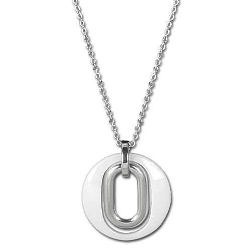 Magic-geschenk-tasche (Amello Damen-Halskette Edelstahl Magic weiß ESKX03W)