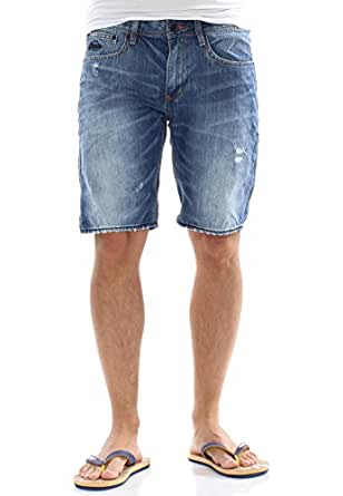 Superdry Shorts Men OFFICER SHORT Quarry Used, Hosengröße:33