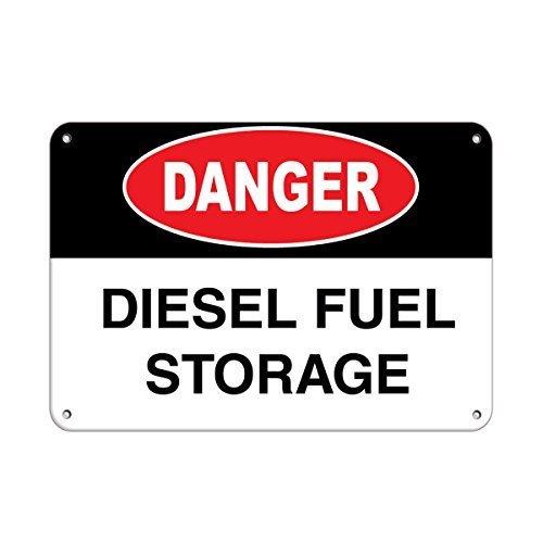 Bair89Pulla Danger Diesel Kraftstoffspeicher Chemical Hazard Schilder Aluminium Metallschild 20,3 x 30,5 cm
