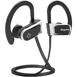 Auriculares Bluetooth, Bagotte In-Ear Auriculares Bluetooth 4.1 Cascos Inálambrico Deportivos Resistente al Agua IPX7 con Micrófono, Manos Libres, Cancelación de Ruido CVC 6.0 para iPhone y Android