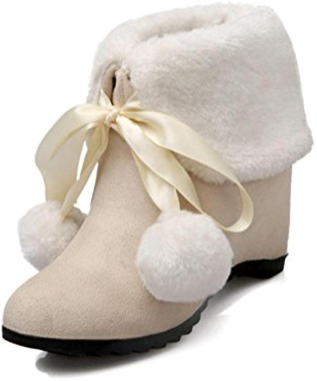 Heart&M Mujer Botas Botas de nieve Aterciopelado Otoño Invierno Casual Tacón Cuña Negro Amarillo Almendra 7'5... -