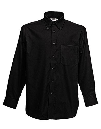 F600 Men´s Long Sleeve Oxford Shirt, Farbe:Black;Größen:XXL XXL,Black -