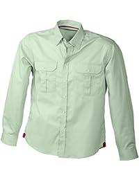 JAMES & NICHOLSON - chemise légère manches longues - repassage facile - JN604 - Homme