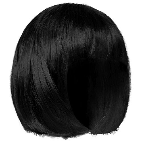 Shenky Bob Perücke und Haarteil für Damen Fasching Karneval (Schwarz) (Perücken Preise)