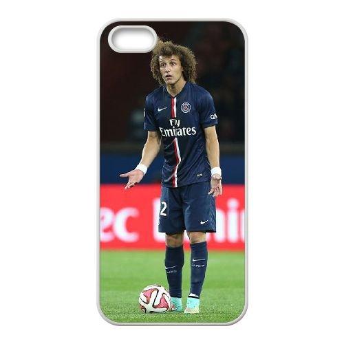 David Luiz coque iPhone 4 4S Housse Blanc téléphone portable couverture de cas coque EBDXJKNBO13275