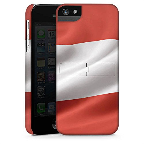 Apple iPhone X Silikon Hülle Case Schutzhülle Österreich Flagge Austria Premium Case StandUp
