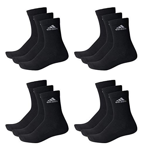 Adidas Socken 3S Performance Crew HC 6PP 12er Pack, Größe:35-38;Farbe:Schwarz (AA2295) -