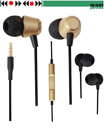 Jkobi Ear Shape Fit Volume Control Metal Earphones Headset Compatible For Oppo R1 R829 -Gold  available at amazon for Rs.340