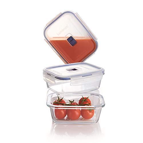 Luminarc, Serie PURE BOX Active, Vorratsdosen rechteckig, 3 verschiedene Größen
