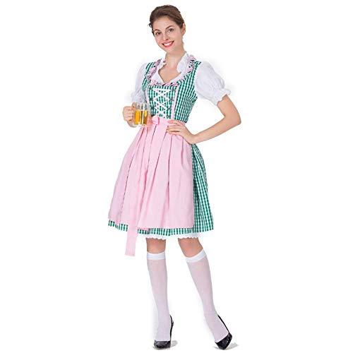 Kostüm Dienstmädchen Bier - TUWEN Halloween-KostüM Bier MäDchen Kleid KöRper BüHnenperformance KostüM DienstmäDchen KostüM