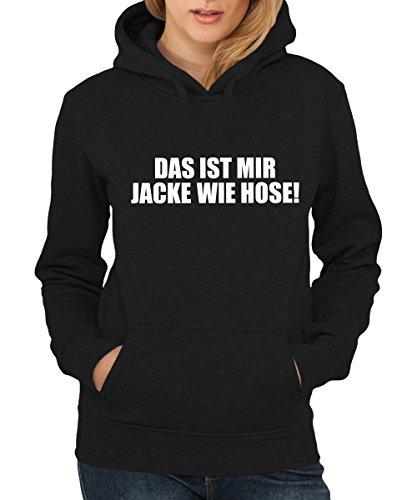 -- Das ist mir Jacke wie Hose -- Girls Kapuzenpullover Schwarz