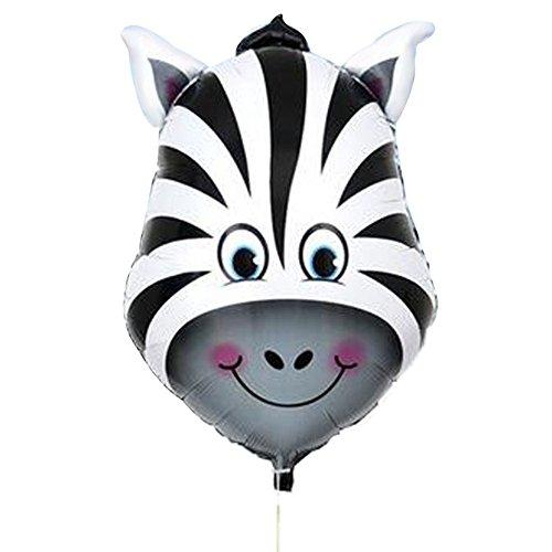 ustige große Tierkopf-Helium-Folienballons Geburtstag Party Dekoration Kinder Geschenk Zebra ()