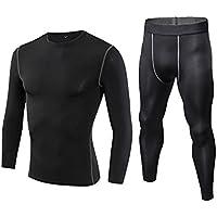 Herren Funktionswäsche Atmungsaktiv Base Layer Warme Unterwäsche Set Für Hohe Aktivität