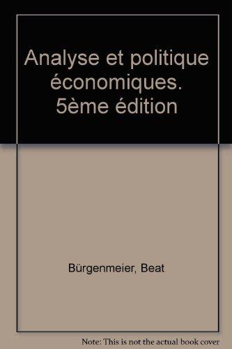 Analyse et politique économiques,  5e édition