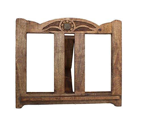 Store Indya, leggio da cucina in legno intagliato a mano del musica ...