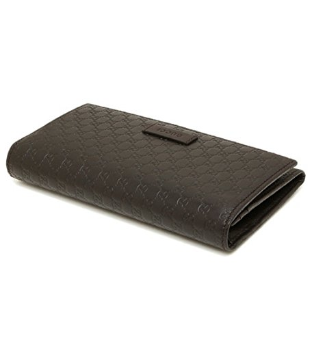 d6ad33b432b Gucci Women s Leather Micro GG Continental Bifold Wallet (449396 ...