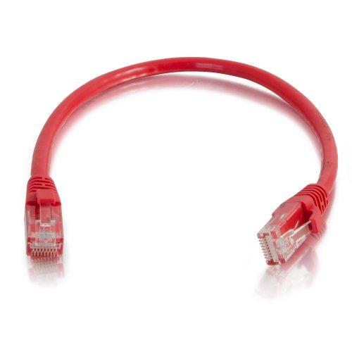 C2G 25Ft CAT5e 350MHz, Knickschutztülle, Patch Cable 7.625M rot Netzwerk-Kabel-Kabel Netzwerk-(7,625M, männlich/männlich, CAT5e, rot) 7.625