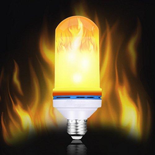 Galleria fotografica ZT Lampadina A Fiamma LED Flickering Flame Effect Light E27, 108Pcs 2835 Perle Di LED Luce Decorativa Simulata Per La Decorazione Di Natale/Hotel/Bar/Home/Ristoranti (1 Pacchetto)