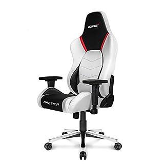 AK Racing Artica juegos silla, piel sintética, color blanco