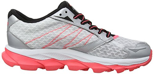 Skechers Go Run Ultra, Sandales de marche femme Multicolore (White/Black/Silver/Pink)