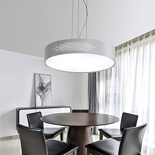 36 Einzel -, (BDYJY * Chandelier-Simple Modern Round LED Chandelier Esszimmer Kreative Studie Büro Kronleuchter Einzel Kronleuchter (40cm-32w / 50cm-36W) -Innenbeleuchtung Kronleuchter (Farbe: Weißlicht-50cm-36W))
