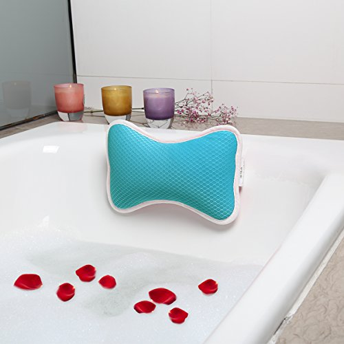 Wasan Badekissen Spa Kissen Antibakterielles Luxuriöses Kissen, 2 starke Saugnäpfe, Home Spa Rutschfeste Auflage für Badewanne, Hot Tub, Whirlpool -