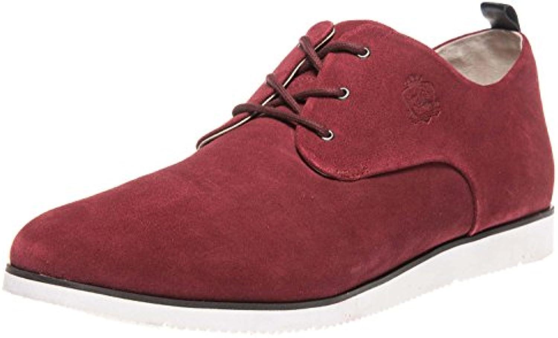 Manz Zapatos de Cordones de Piel Para Hombre Rojo Rojo Vino -