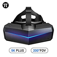 Pimax 5K Plus VR Virtual Reality Headset with Wide 200°FOV, Dual 2560x1440p RGB LCD Panels & 6 DOF Tracking, 1-Year Warranty [EU Standard Adapter][Headset Only]