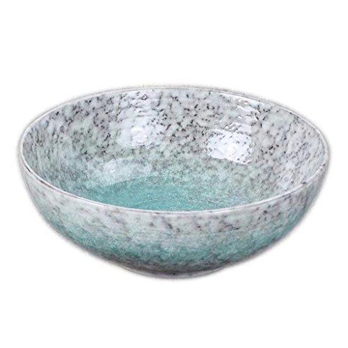 ZHAO SHOP-8.8in Runde Keramik Schüssel Stein Keramik Geschirr für Restaurant Küchentisch Salat (980g) (Keramik-abendessen)
