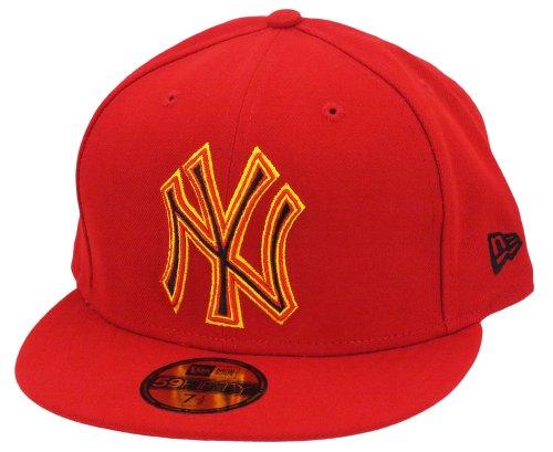 New Era New York Yankees Cap Four Stitch Scarlet / Yellow - 7 - 56cm