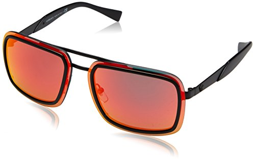 Versace 0ve2183 12616q 63, occhiali da sole uomo, nero (matte black/redmultilayer)
