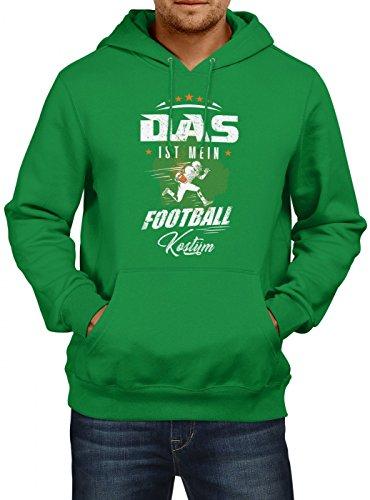 idung Football Premium Hoody | Kostüm | Karneval Hoodies | Fasching | Herren | Kapuzenpullover, Farbe:Hellgrün;Größe:XL (Touchdown Kostüme)