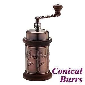Cafe de Tiamo Hand Coffee Grinder Cast Iron Conical Burr Skerton (HG6033)