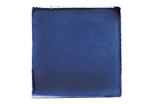 liesen einfarbig - handbemalt - 10 x 10 cm - Fliese fairtrade (kobaltblau) ()