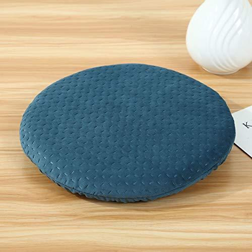 baoyueshangmao Memory-Schaum-Pad Qualität Orthopädische Kissen Memory-Foam-Kreis Verdickten Haushalt Dick 4Cm Durchmesser 34Cm Dongkuan - Pfaublau Tablette -