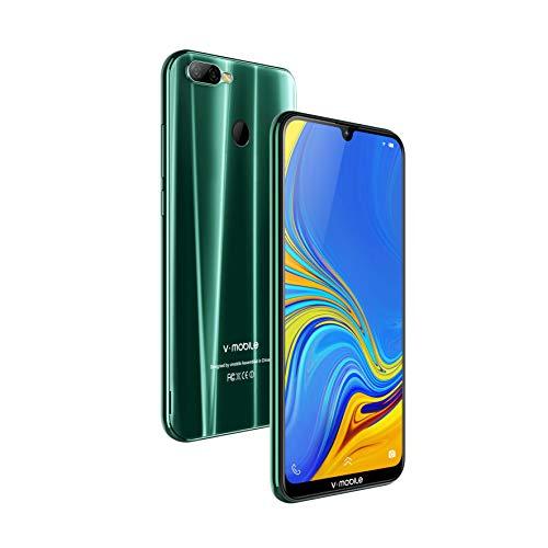 Telephone Portable debloqué 4G Ecrans Waterdrop 6.26' 4Go RAM + 64Go ROM Android 8.1 Smartphone Pas Cher Batterie 4800mAh 2 Micro SIM + 1 MicroSD Youtube Netflix