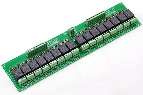 Electronics-Salon 16 SPDT Leistungsrelais-Modul, 24V Spule, 10A 277VAC / 30VDC. (277v Spule)